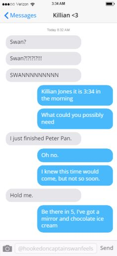 """I just finished Peter Pan"" Killian and Emma"