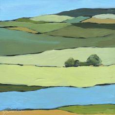 http://janetbludau.fineartstudioonline.com/ Original Painting: Modern Landscapes and Seascapes, contemporary art, rural art, farmland art