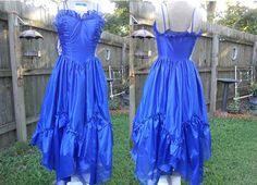 Beautiful 80s Prom Dress  Vintage Dress  80s dress by gottagovintage1, $47.00 blue dress blue prom dress