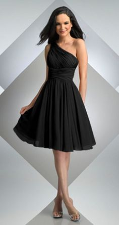Black Bridesmaid Dresses. Everyone can pick what looks good on them.