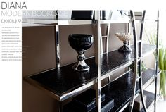 Diana bookcase. Modern Bookcase, Furniture Companies, Diana, Coffee Maker, Kitchen Appliances, Steel, Coffee Maker Machine, Diy Kitchen Appliances, Coffee Percolator