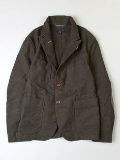 SEAWALL :: Engineered Garments Bedford Jacket - Olive Moleskin - New Styles