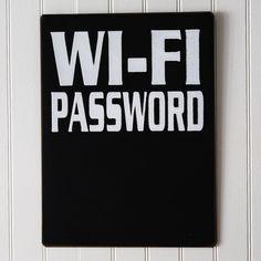 Metal Wi-Fi Password Chalkboard Sign