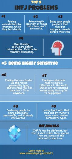 infj problems infographic