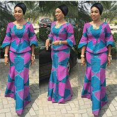 Classy picture collection of Beautiful Ankara Skirt And Blouse Styles These are the most beautiful ankara skirt and blouse trending at the moment. If you must rock anything ankara skirt and blouse styles and design. African Fashion Ankara, Latest African Fashion Dresses, African Dresses For Women, African Print Fashion, African Attire, African Wear, African Women, African Beauty, African Print Dress Designs