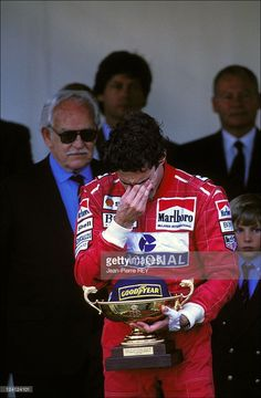 The Family of Monaco at Formula 1 Grand Prize In Monaco city, Monaco On May 23, 1993 - Ayrton Senna.  (Photo by Jean-Pierre REY/Gamma-Rapho via Getty Images)