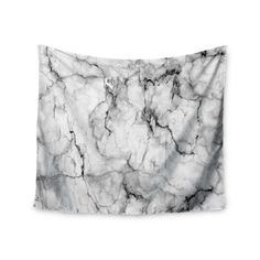 Kess InHouse Chelsea Victoria 'Marble No 2 ' Black Modern 51x60-inch Tapestry (Marble No 2) (Polyester)