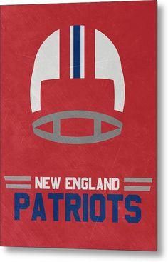 Patriots Metal Print featuring the mixed media New England Patriots Vintage Art…