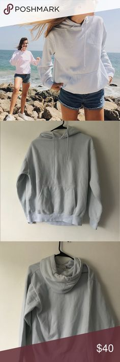 Brandy Melville Light Blue Christy Hoodie NWT Brandy Melville Sweaters