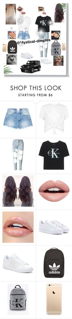 """""""Me and @mystical-dimples😍"""" by sabellacunningham ❤ liked on Polyvore featuring Frame, WithChic, Calvin Klein Jeans, Nevermind, adidas, Calvin Klein and Wrangler"""
