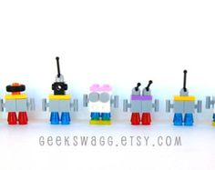 Lego Party Favor, Set of 10 Birthday Party, party favor, kids birthday, Lego robots, robot party