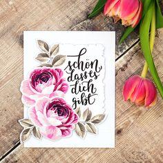 Ich habe mal wieder eine blumige Karte, die ich euch zeigen möchte 😊. • Once again I have a flower card for you 😊 • #grußkarte #grusskarte… Altenew, Flower Cards, Stamps, Delicate, Instagram, Flowers, Craft, Ideas, Seals