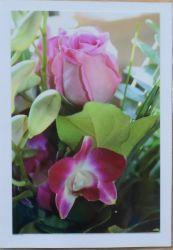 Fotokarte Rose-und-Orchidee