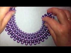 How to make Pearl Beaded Necklace Set Beaded Bracelets Tutorial, Necklace Tutorial, Diy Necklace, Beaded Jewelry Designs, Bead Jewellery, Handmade Beads, Handmade Jewelry, Diy Jewelry Instructions, Beaded Chocker