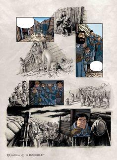 "Page 34 from ""Le reverse de la medaille"" Tome III. Text: JD Morvan. Art: Stefano Tamiazzo.  #delcourt #morvan #bd #manga #comics #fumetti #sceneario #lamandiguerre #stefanotamiazzo #tamiazzo"