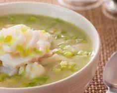 Soupe de poireaux au poisson