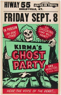 Ghost Party at the Drive-in Theatre