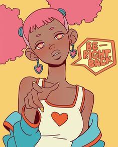 Cute Art Styles, Cartoon Art Styles, Black Artwork, Black Girl Art, Magic Art, Dope Art, Kawaii Art, Pretty Art, Character Design Inspiration