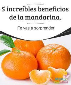 5 increíbles beneficios de la #Mandarina. ¡Te vas a sorprender!   La mandarina se considera la hermana menor de la #Naranja. Probablemente se deba a su increíble parecido con la misma. Sin embargo, esta fruta se merece tener entidad propia. Sus características son tan importantes que hemos decidido presentártela.  #Curiosidades