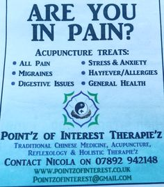 Acupuncture Benefits, Traditional Chinese Medicine, Reflexology, Migraine, Stress And Anxiety, Allergies, Massage, Health, Health Care
