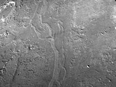 Ríos fosilizados sugieren un Marte antiguo templado y húmedo. Imagen en perspectiva de Aram Dorsum, un canal invertido de Marte y candidato a lugar de aterrizaje del róver  ExoMars. Crédito: NASA/JPL/MSSS. El estudio ha identificado más de 17000 km de antiguos canales fluviales en una llanura del hemisferio norte llamada Arabia Terra, aportando más pruebas de que en el pasado fluía agua por Marte.