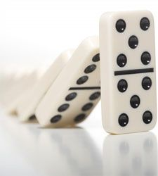 We Red Hatters Love to Play Dominoes...especially Chicken Foot