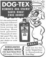 Dog-Tex Stain Remover 1945 Ad Picture