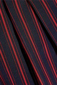 Sonia Rykiel - Pleated Striped Silk Crepe De Chine Wide-leg Pants - Blue - FR42