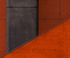 Orange and Black Concrete by Stefan Krebs Orange Architecture, Minimal Architecture, Learning Centers, True Colors, Concrete, Interior, Centre, Tape, Black
