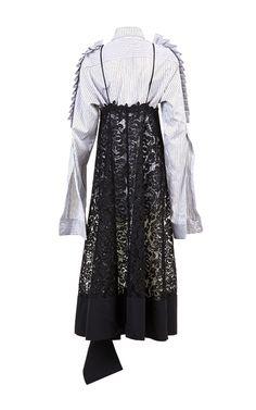Ruffled Lace Overlay Dress by BEssARION | Moda Operandi