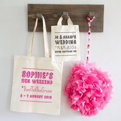 Hashtag Wedding Or Hen Party Bag @notonthehighst