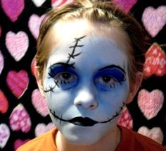 Face painting Sally doll   from Face Painting and Body Art by Anne Marie and Tabitha