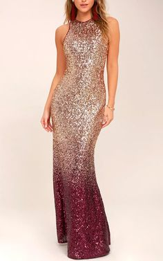 Wedding MACloth Mantel Pailletten Rotgold Burgunder Abendkleid Maxi Brid Three Things You Should Kno Rose Gold Wedding Dress, Gold And Burgundy Wedding, Burgundy And Gold Dress, Burgundy Bridesmaid Dresses Long, Gold Bridesmaid Dresses, Bridesmaids, Best Maxi Dresses, Prom Dresses, Graduation Dresses