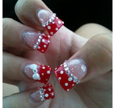 minnie mouse nails <3