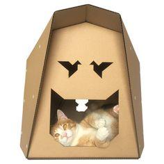 Origami Cardboard Cat House Cat Toy Cat Cave Cat Bed Cat