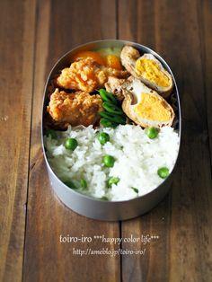 Pea Rice Bento 豆ご飯弁当