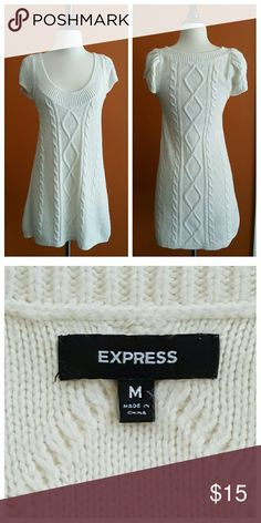 Express Cream Sweater Dress Cabled Cream Sweater Dress Express Dresses Midi