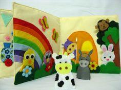 Animal Activity Book  Finger Puppet Felt Quiet by TulipPetalsCraft, $70.00