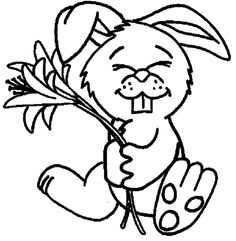 Bunnies Hold Flowers