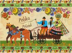 Polish Art Center - ''Wedding Carriage'' Note Card And Envelope Wedding Carriage, Polish Folk Art, Southwest Art, Historical Images, Art And Architecture, Note Cards, My Arts, Painting, Culture
