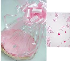 """#1x10"""" diy gift basket kit pink butterfly #cello/tissue/bow/card #mothers day/ ba,  View more on the LINK: http://www.zeppy.io/product/gb/2/260949732948/"""