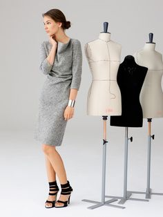 burda style 10/2012  Kleid mit Wasserfallkragen 118 A