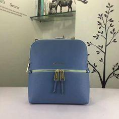 MICHAEL Michael Kors Rhea Medium Slim Leather Backpack Sky Blue