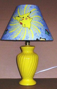 Pokemon Pikachu Fabric Lamp Shade Lampshade Yellow Base | eBay $32.99