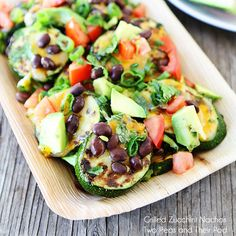 """Healthified"" Zucchini Nachos from @Maria Canavello Mrasek (Two Peas and Their Pod) http://yumm.ly/1ixUf6I"