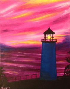 Images For > Easy Lighthouse Painting