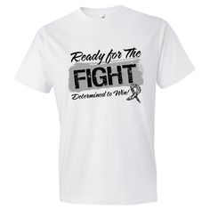 Ready For The Fight Neuroendocrine by AwarenessRibbonColors. #NeuroendocrineCancerAwareness