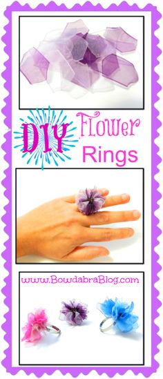 Birthday Party Favors or Crafts to do at the party --> DIY Fashion Statement Flower Rings