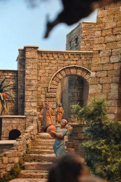 Forum del Presepio Elettronico Multimediale (Il primo e unico) - GAPI /Presepi in mostra a MAGENTA ) Christmas Open House, Christmas Nativity, Fontanini Nativity, Medieval Town, Fairy Houses, Diy Arts And Crafts, Small World, Real Model, Biblical Art