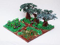 Farm Lego Minecraft, Lego Moc, Lego Friends Elves, Lego Bridge, Lego Tree, Amazing Lego Creations, Lego Trains, Lego Castle, Lego Architecture
